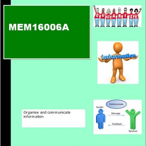 MEM16006A Cover